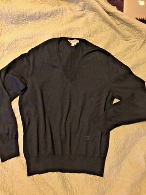 Vintage GUCCI 100% Wool V-Neck Sweater. Made in Italy. Men's OR Women's