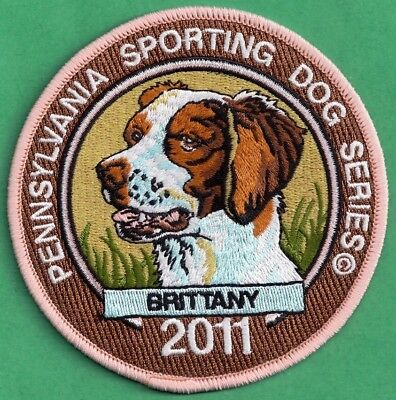 Pa Game Fish Commission Pennsylvavnia Sporting Dogs 2011 Brittany Spaniel Patch