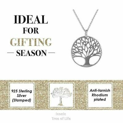 Sterling Silver Tree of Life Pendant Celtic Infinity Charm Womens Necklace Gift