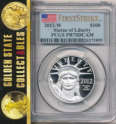 2012 W $100 Proof Platinum Eagle 1Oz. Pcgs Pr70 First Strike Key Date Pop 99!