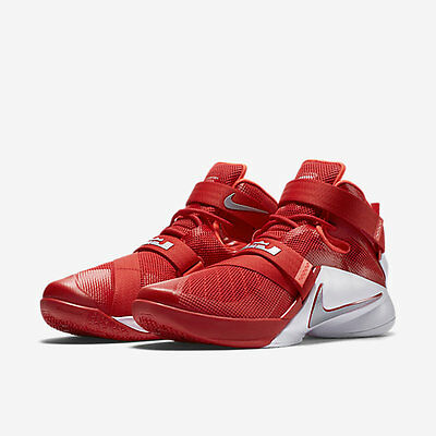 3d2d33736fee MEN S NIKE LEBRON SOLDIER IX TB SHOES SIZE 13.5 red silver white 749498 601