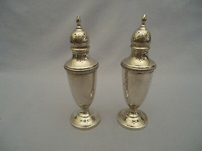 Vintage FISHER STERLING SILVER 451 SALT AND PEPPER SHAKERS 78g