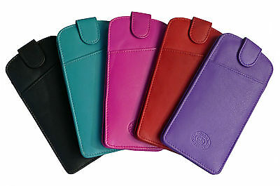Glasses Spectacle Case Pouch Mens Ladies Real Leather Slimline  6 colours
