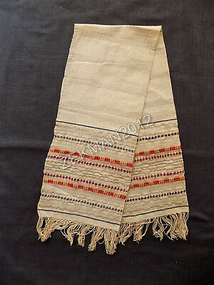 Antique Folk Macedonian Hand-embroidered Cotton Men's Scarf for Groom's Waist