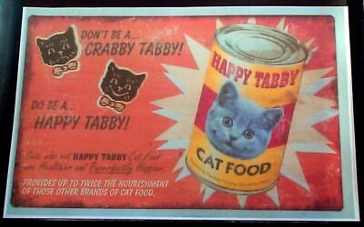 Happy Tabby Cat Food Don't Be A Crabby Tabby Reprint Packed By Gloucester Mass