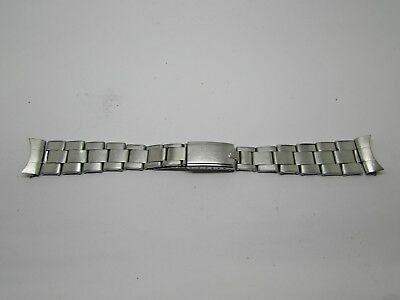 Vintage Genuine Rolex Oyster Band  steel 19mm Riveted bracelet Endlink 60