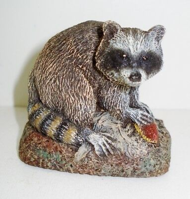Vintage Raccoon Figurine Beautiful Cute Design Bronze Menagerienr