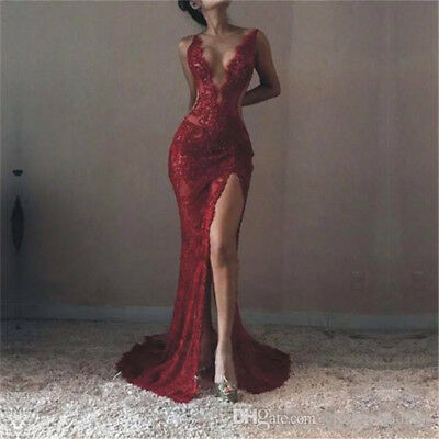 fb790ac1526f Lace Evening Long Prom Dress Formal Party Ball Gown Bridesmaid Mermaid New