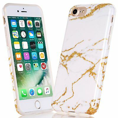 iPhone 8 Case, Wastou Marble Pattern Slim Fit Soft Flexible TPU Wireless Charge