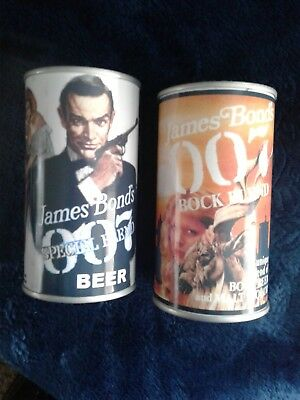 Set of2 Replica James Bond's 007 OO7Novelty Beer Can Air Sealed Empty