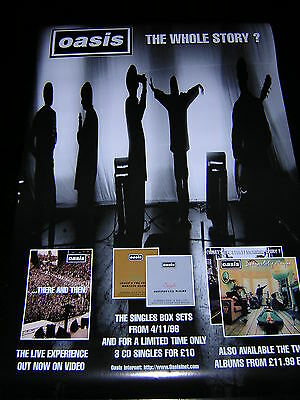 Original Oasis Promotional Poster - The Whole Story? Collection