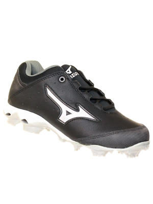 1dccb1a14 Mizuno Womens 9 Spike Finch Elite Switch Softball Molded Cleats Black White  6 M