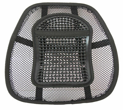 Mesh Lower Back Lumbar Support for Office Work Chairs In Car Seat Posture Black