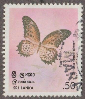 Sri Lanka Cethosia Nietneri Denomination 0.50  Issued 1978 Postage Stamp Used