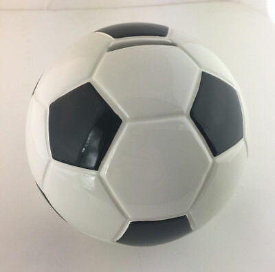 Large Ceramic Soccer Ball Bank (Piggy Bank)