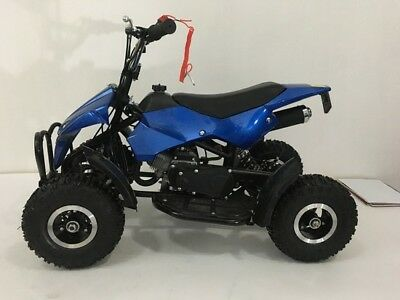 49cc Mini ATV Quad Bike Kids 4 Wheeler Dirt Buggy Pocket Bike BLUE