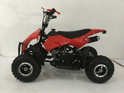 49cc Mini ATV Quad Bike Kids 4 Wheeler Dirt Buggy Pocket Bike RED