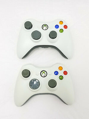 Xbox 360 Wireless Controller Official Microsoft White Genuine OEM Lot of 2