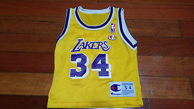 buy popular 411ce 755db VTG TODDLERS SHAQUILLE Oneal Los Angeles Lakers NBA basketball jersey SHAQ