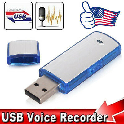 SPY Mini 8/16/32GB USB Disk Pen Drive Digital Audio Voice Recorder Recording US