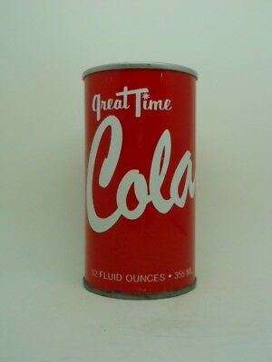 TOUGH-R 2-Great Time Cola Tab Top Soda Can-K-MART Corp-Troy MICHIGAN