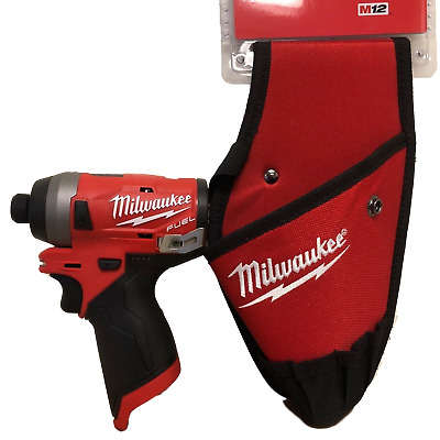 Milwaukee 2553-20 M12 FUEL 12V Brushless 1/4 Hex Impact + (1) 2335-20 Holster