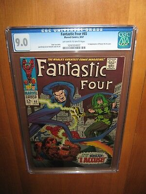 Fantastic Four #65 CGC 9.0 OW/W Pages (Marvel) 1967 1st Appearance Ronin