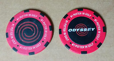 *NEW* Odyssey golf poker chip style SET OF 2 ball markers