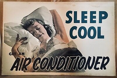 Vintage - Air Conditioner - Electric Power Promotional Poster - Sleep Cool