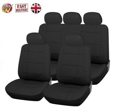 Luxury Black Leather Look Seat Cover Full Set MERCEDES-BENZ E-CLASS SALOON 09-ON
