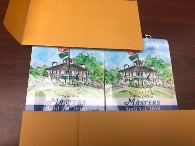 2 - 2018 Masters Golf Tournament Series Badges- ALL 4 DAYS!-  Thursday to Sunday