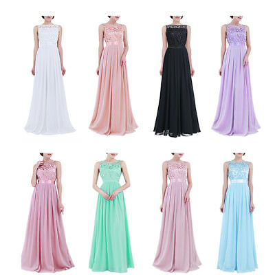 Pretty Women Long Formal Maxi Evening Dress Cocktail Party Prom Bridesmaid Gown