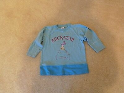 OILILY top long sleeve light turquoise aqua color 98 or 2-3 yrs. old