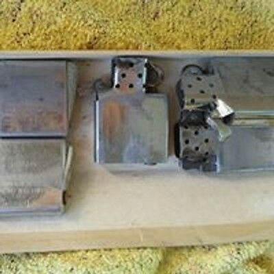 Lot Of Six Vintage Zippo Lighters - Not Working For Parts Or Repairs