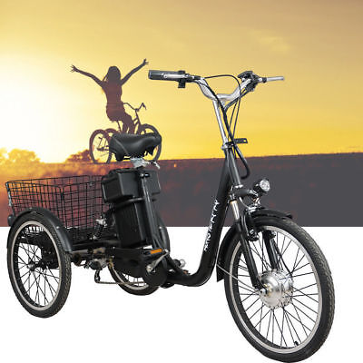 Black 250w Electric Bike 48v Tricycle Ebike Uber Tour City Scooter Bicycle