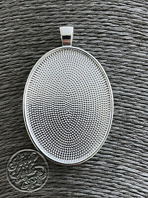 5 x Large Oval Pendant Trays for Jewellery Making, Pendant Tray Blanks, Bezel...