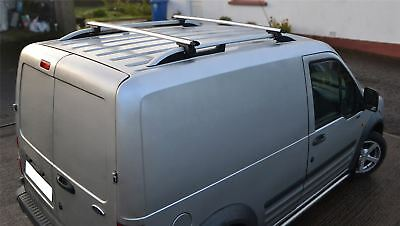 To Fit 02 - 14 Ford Transit Tourneo Connect LWB Roof Rails & Locking Cross Bars