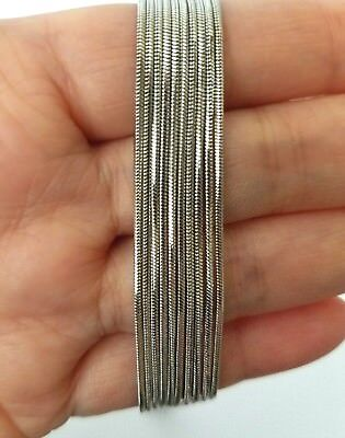 Snake Chain Rhodium Plated 1 MM Wholesale Lot Necklace Bulk USA Seller