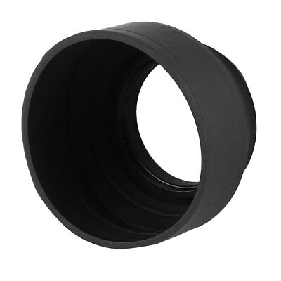 Collapsible 3-Stage 49mm Screw In Rubber Lens Hood for SLR Digital Cameras