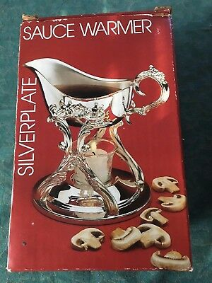 Vintage FB Rogers By Towle Silver Plated Stand Sauce Warmer.   IOB
