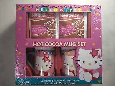 Hello Kitty Hot Cocoa Holiday Mug Set w/ Nestle Cocoa BBD 2018