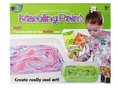 Amazing Marbling Paint Set Paper Art Painting Create Colourful Swirl Patterns