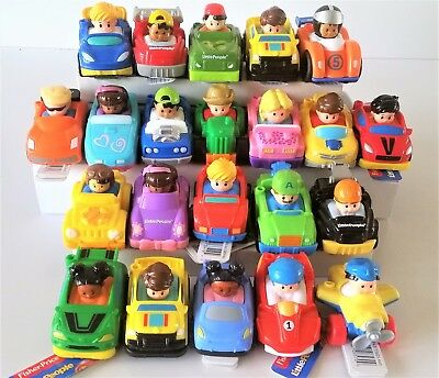 Fisher Price Little People Wheelies Vehicles Toy Cars - 20+ Designs Available