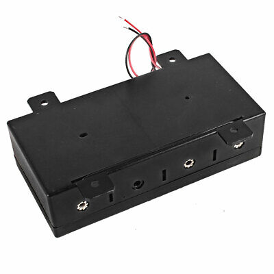 Rectangle 4 x 1.5 V D Wires Connection Battery Plastic Holder Box w Cap