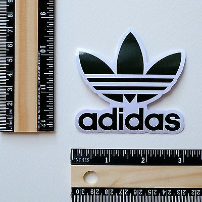 adidas Originals black flower decal vinyl sticker #2796