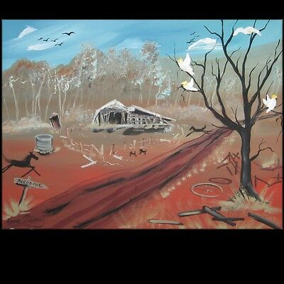 Art Landscape   Abstract  Outback 1.2 X90Cm  Lynne Pickering 12342013