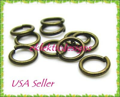 12mm 100pcs Antique Brass Bronze Jump Rings Jewelry Findings Open Split Earrings