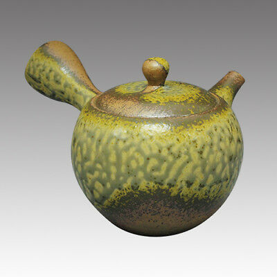 Tokoname Kyusu teapot -ISSIN -Iraq glaze 330cc/ml -Refresh stainless steel net