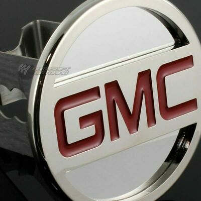 """GMC Stainless Steel CHROME Hitch Cover Cap Plug for 2"""" Trailer Tow Receiver"""