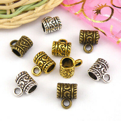 10Pcs Tibetan Silver,Antiqued Gold,Bronze Charm Pendant Bails Connector M1153